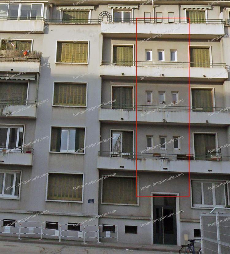 achat appartement avis fissures balcon