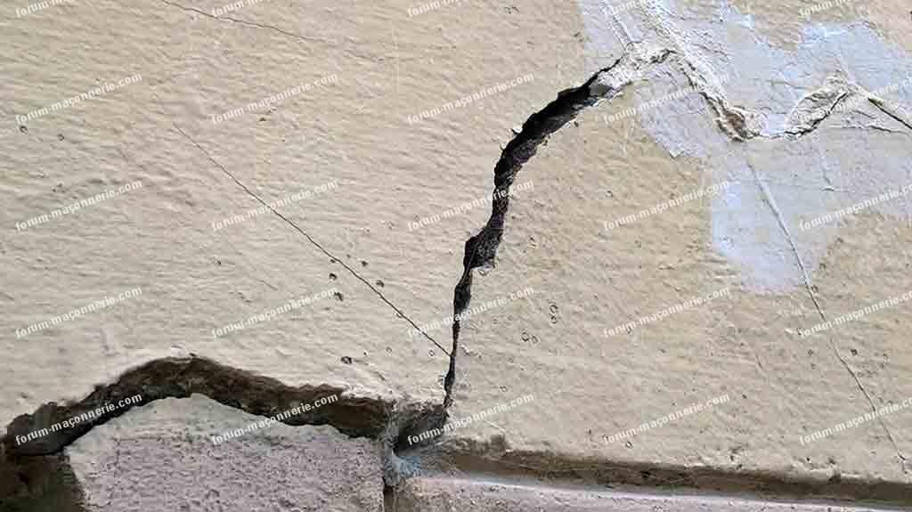 avis fissures importantes extrémité linteau