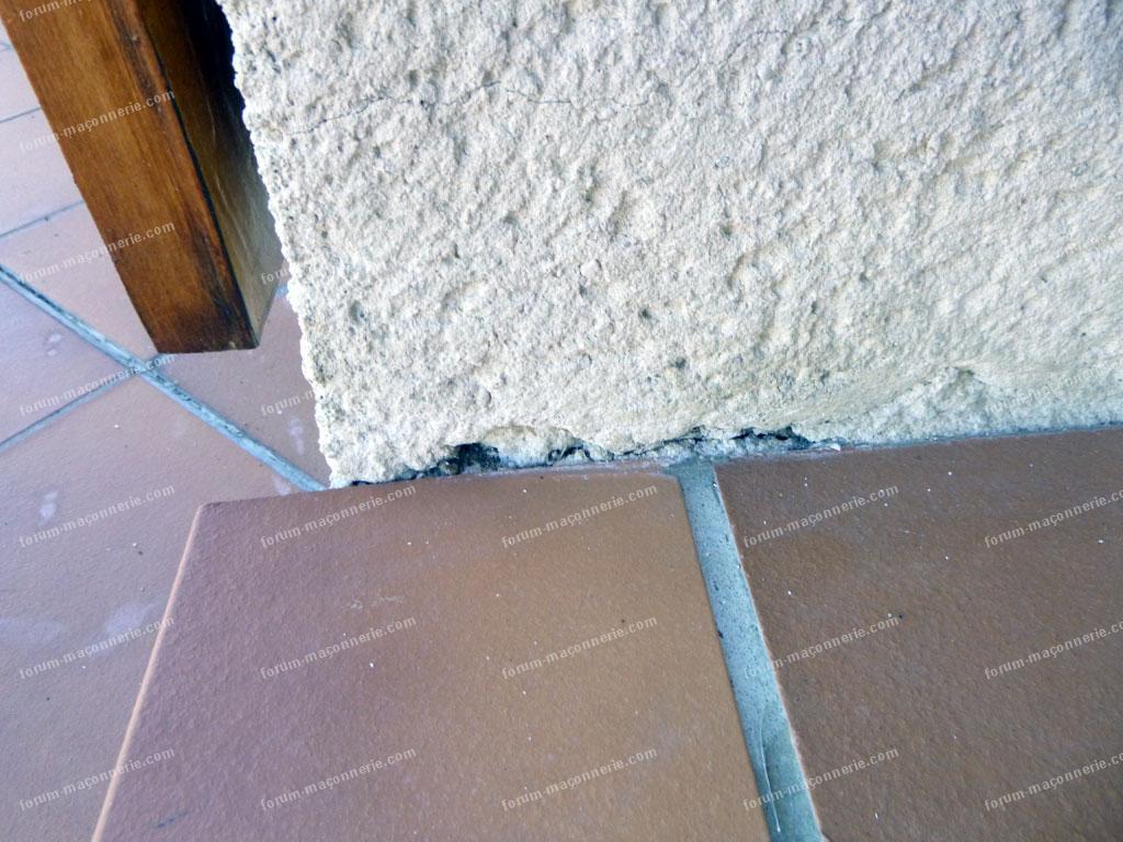 problème joints de carrelages de terrasse