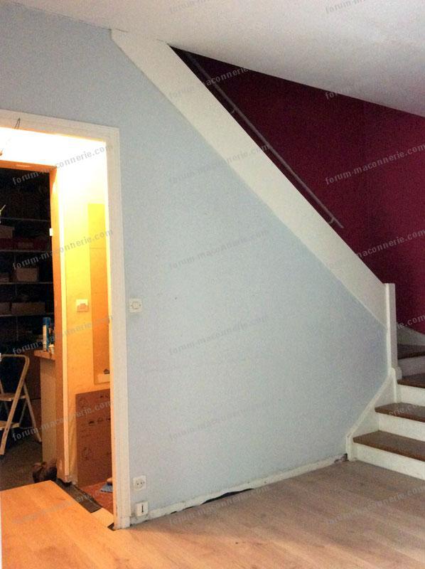 forum ma onnerie conseils pour casser une cloison sous un escalier. Black Bedroom Furniture Sets. Home Design Ideas