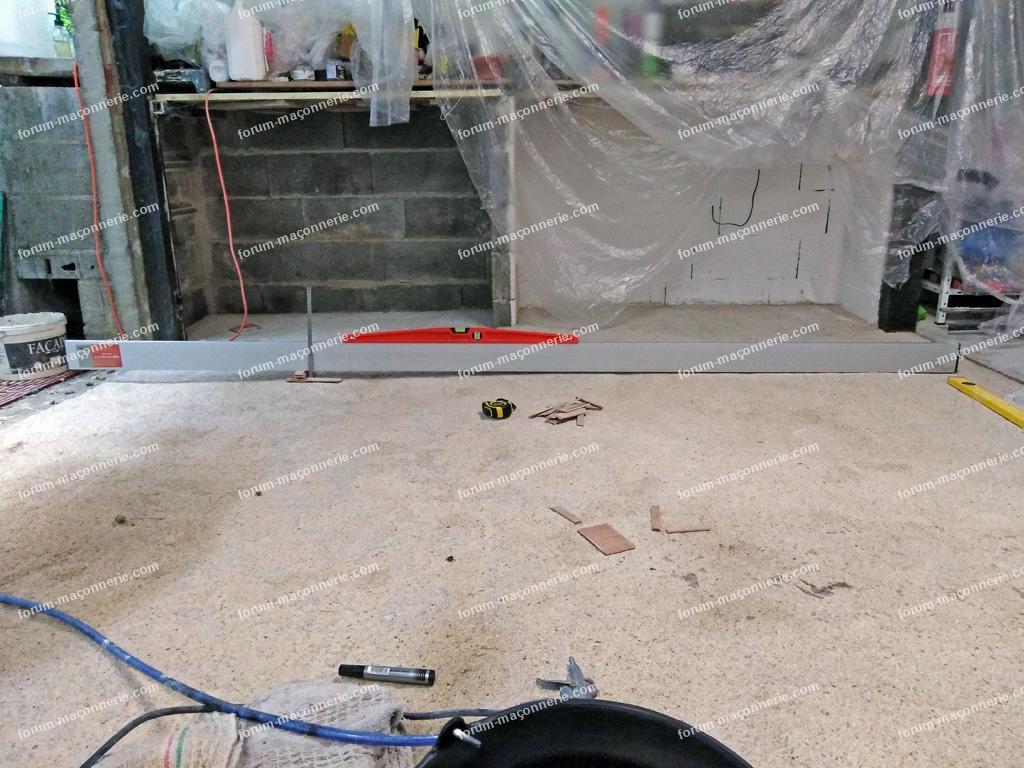 corriger la planéité d'une chape de mortier