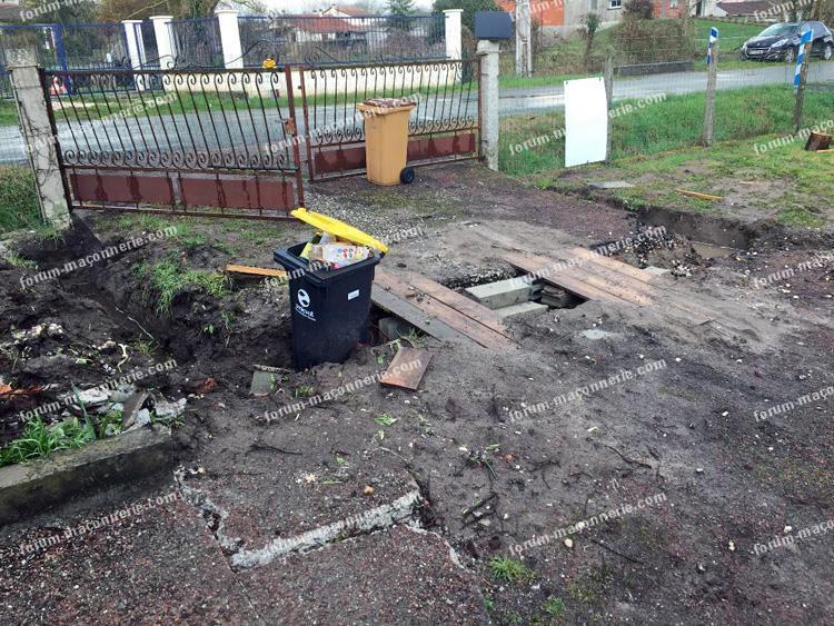 creuser fondations portail