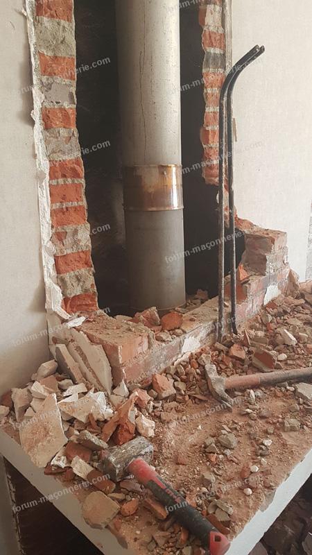 Casser un conduit de cheminée