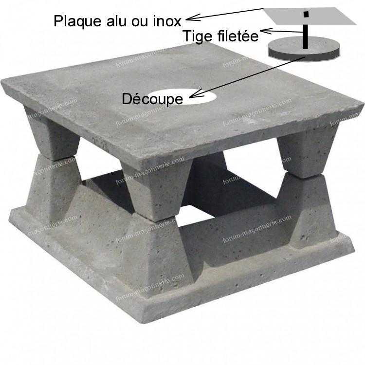 aspirateur de cheminée en béton