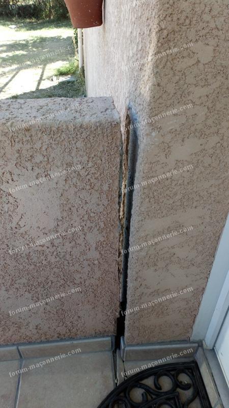 probléme fissures escalier extérieur