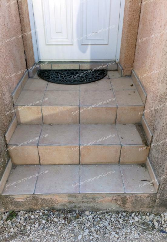 Problème maçonnerie fissures escalier extérieur