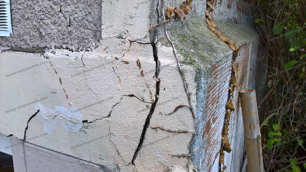 fissures importantes linteau