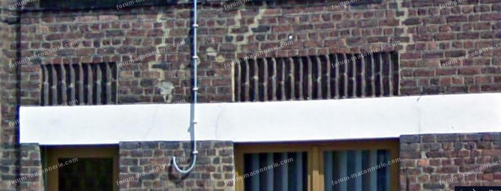 fissures sur la façade avis