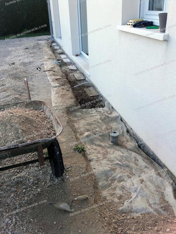 maçonnerie réalisation fondations terrasse