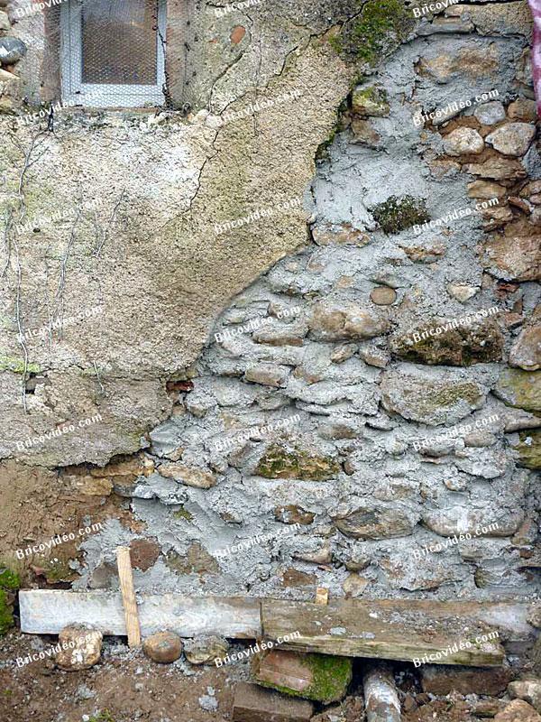 maconnerie mur refait