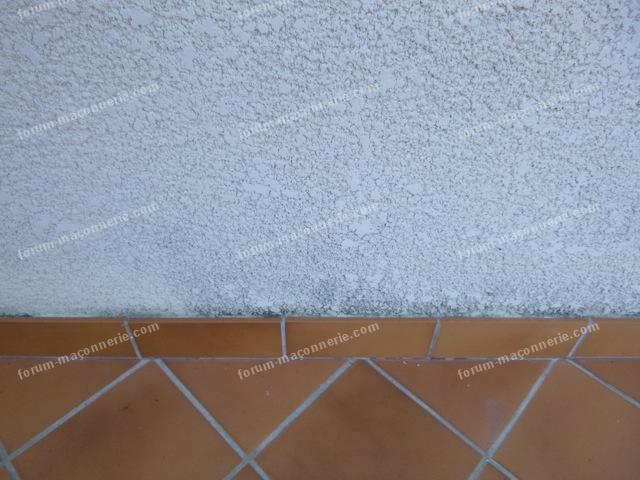 mur avec champignons avant et après