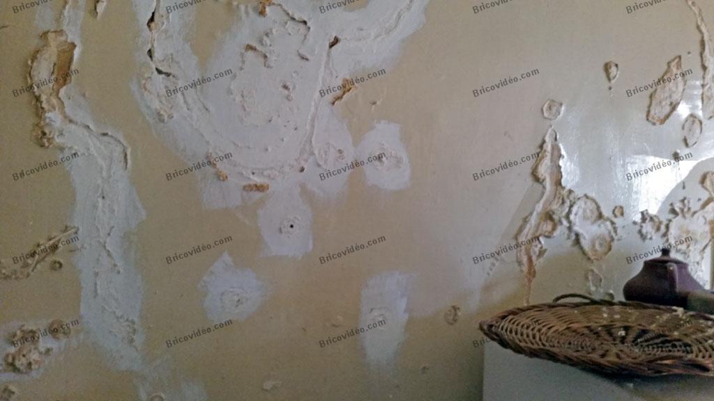 Mur de cuisine humide