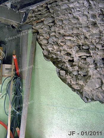 mur en cours de decroutage
