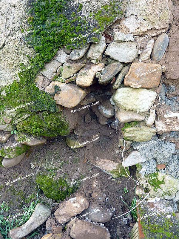 mur terre galet