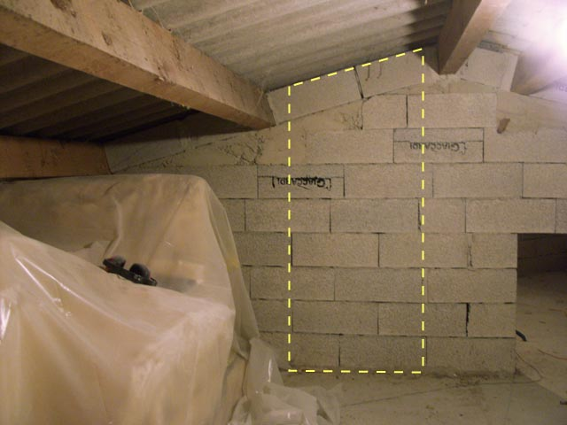 Cr er une ouverture dans un mur servant de ferme dans des for Creer un plancher dans des combles