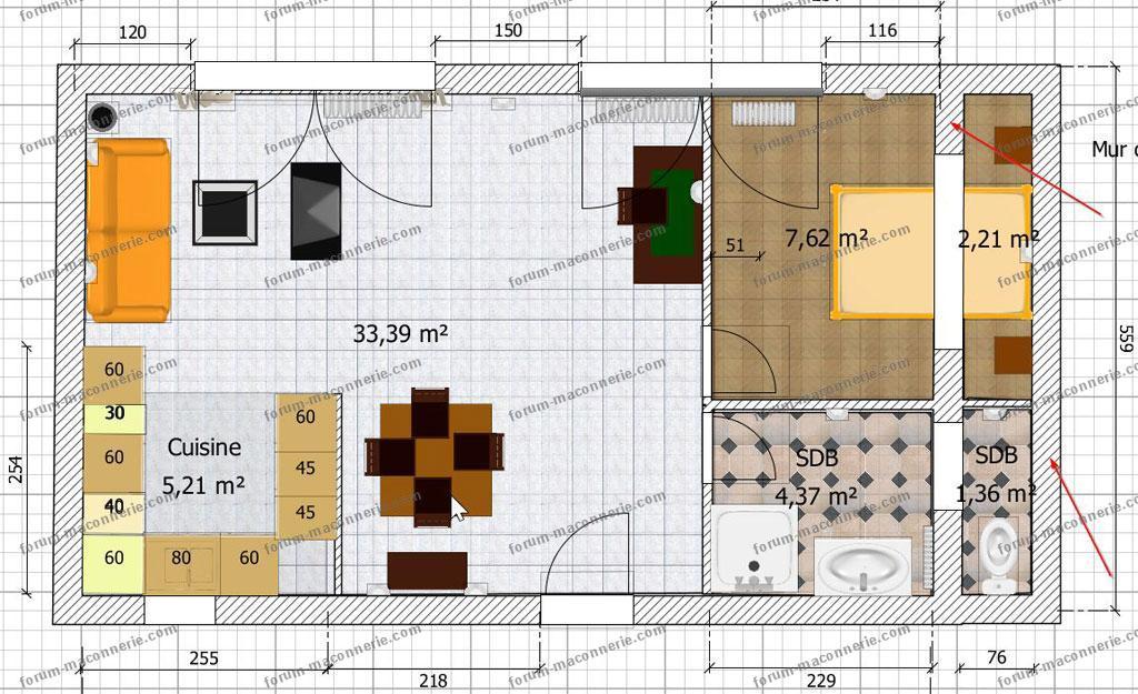 Questions r ponses ma onnerie ouverture dans mur porteur en b ton de 30 cm - Plan amenagement sous sol ...