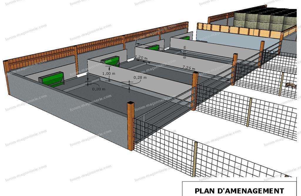 plan bâtiment délevage de porcs