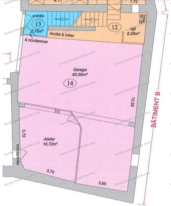 plan construction étage ferme