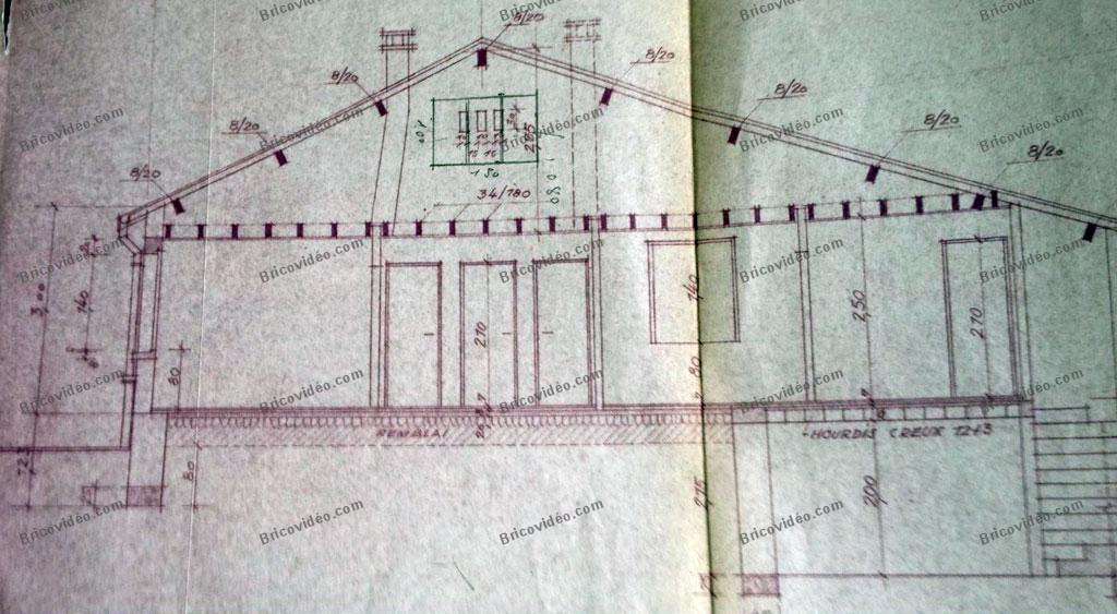 plan maison avec fissures