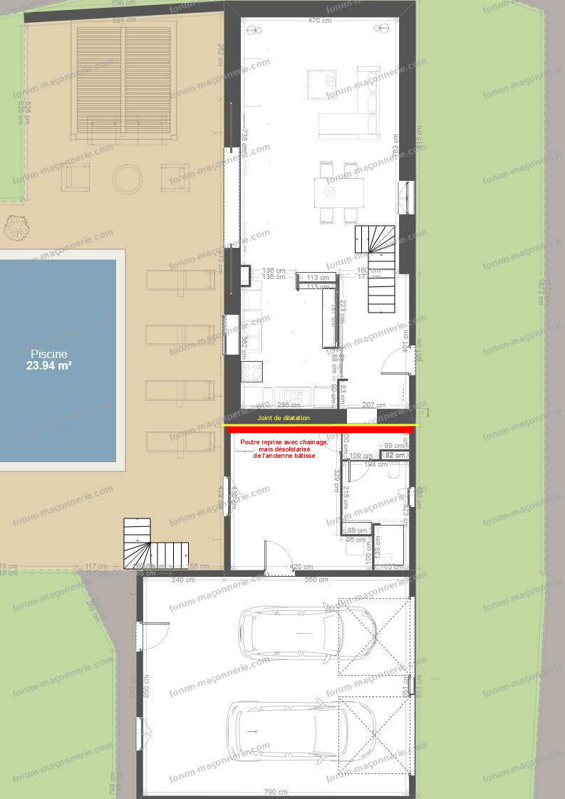 plan rénovation et agrandissement maison