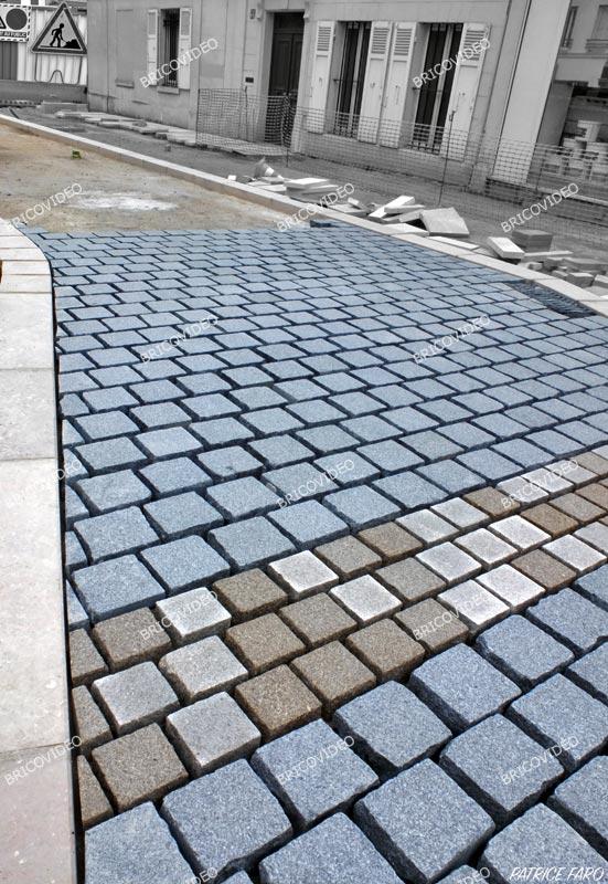Pose dalle granit sur dalle beton