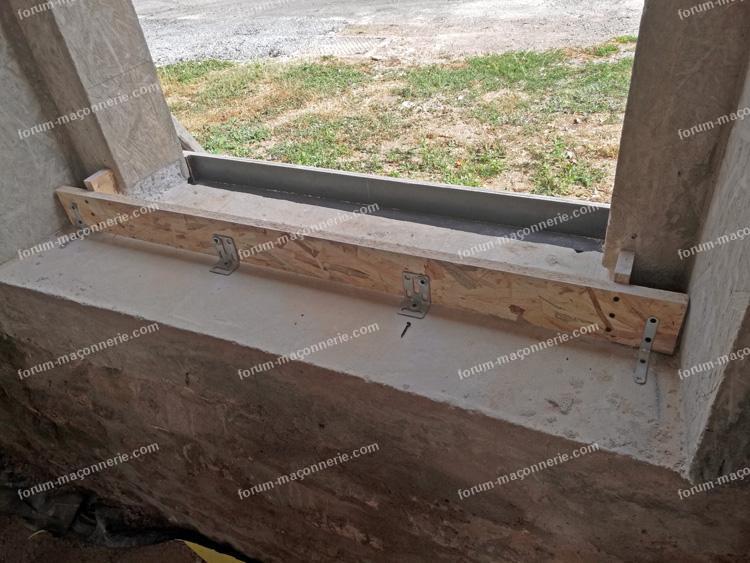 réalisation appui de fenêtre