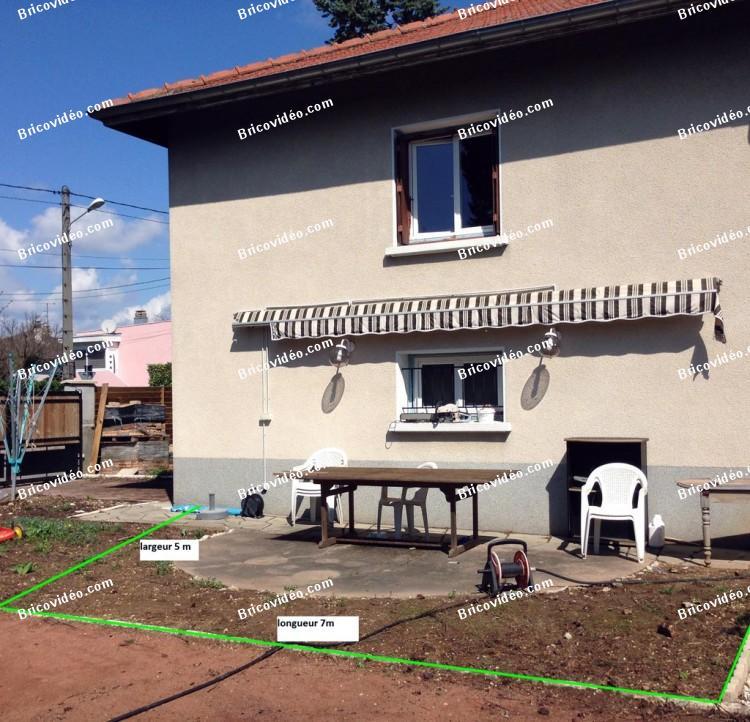 réaliser une dalle de terrasse