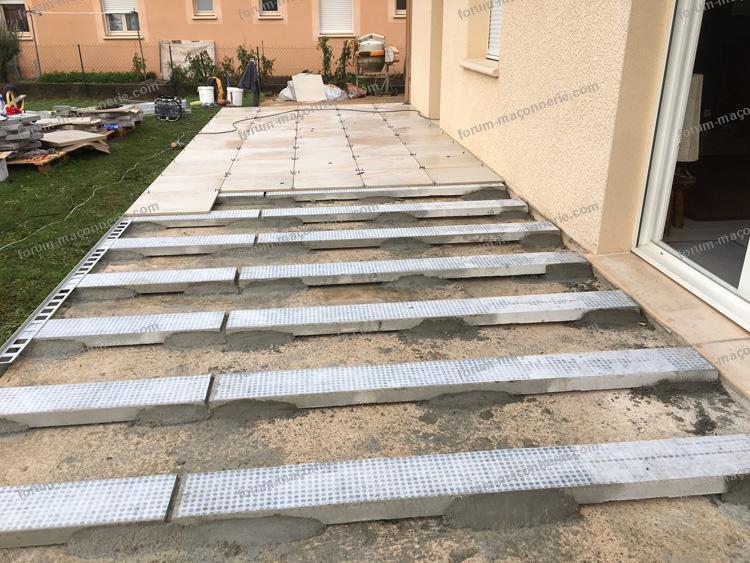 conseils pour refaire une terrasse affaissée