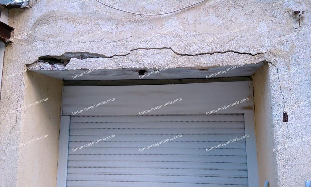 réfection d'un linteau travaux maçonnerie