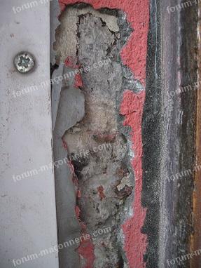 réparation bas d'un mur