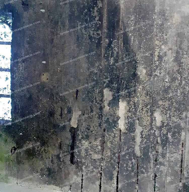 Toit terrasse armature béton armé visible
