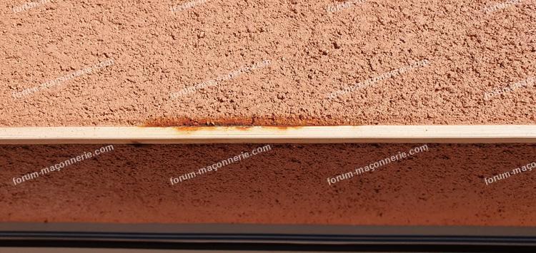 traces de rouilles sur baie vitrée