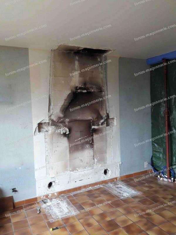 travaux Démontage cheminée